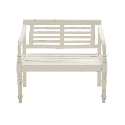 Great Bend Hall Wood Garden Bench by August Grove