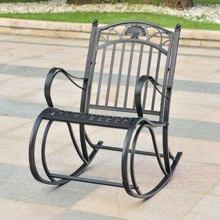 Oak Bluffs Iron Porch Rocking Chair by Fleur De Lis Living