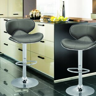 Marriott Adjustable Height Swivel Bar Stool (Set of 2) by Orren Ellis