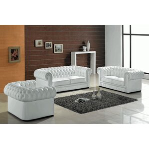 Botkin Leather 3 Piece Living Room Set Part 60
