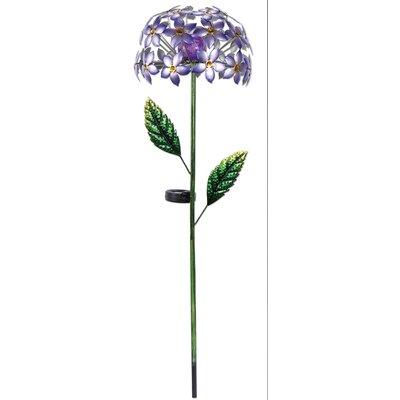 Hydrangea Solar Garden Stake