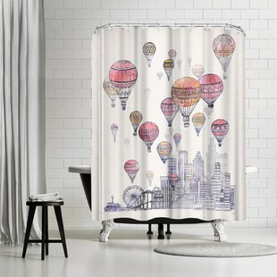 David Fleck Voyages Over Santa Monica Shower Curtain by East Urban Home