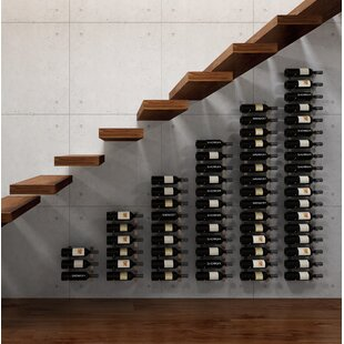 VintageView Wall Series Modular Under the Stairs 63 Bottle Wall Mounted Wine Rack