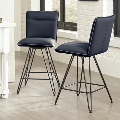 Full Back Grey Counter Height Bar Stools You Ll Love In