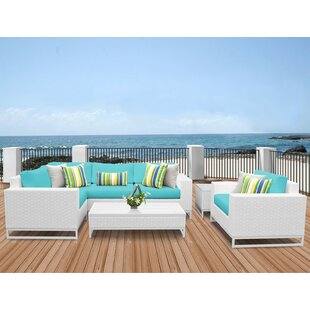 TK Classics Miami 7 Piece Sectional Set with Cushions