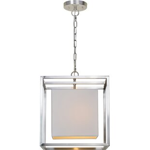 Marks 1-Light Square/Rectangle Pendant by Ivy Bronx