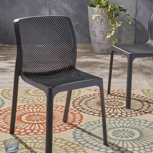 Emrich Outdoor Stacking Patio Dining Chair (Set of 2) by Orren Ellis