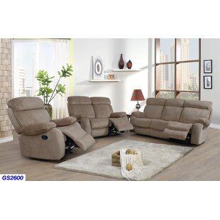 Mcgruder 3 Piece Reclining Living Room Set by Winston Porter
