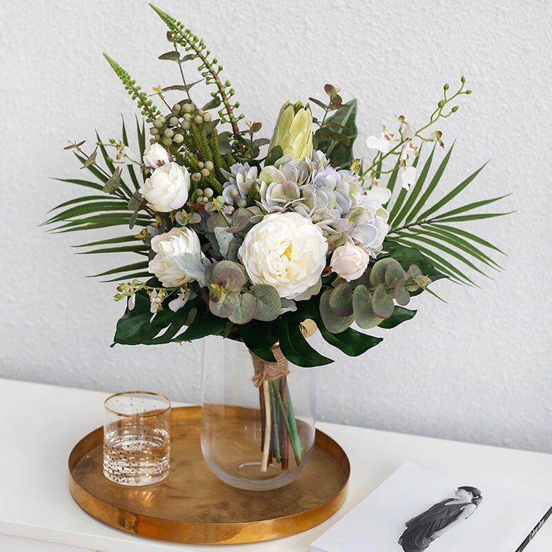 Brayden Studio Hand Tied Faux Bouquet Mixed Floral Arrangements Wayfair