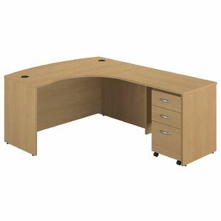 Bush Business Furniture Series C Single Pedestal L-Shape Executive Desk