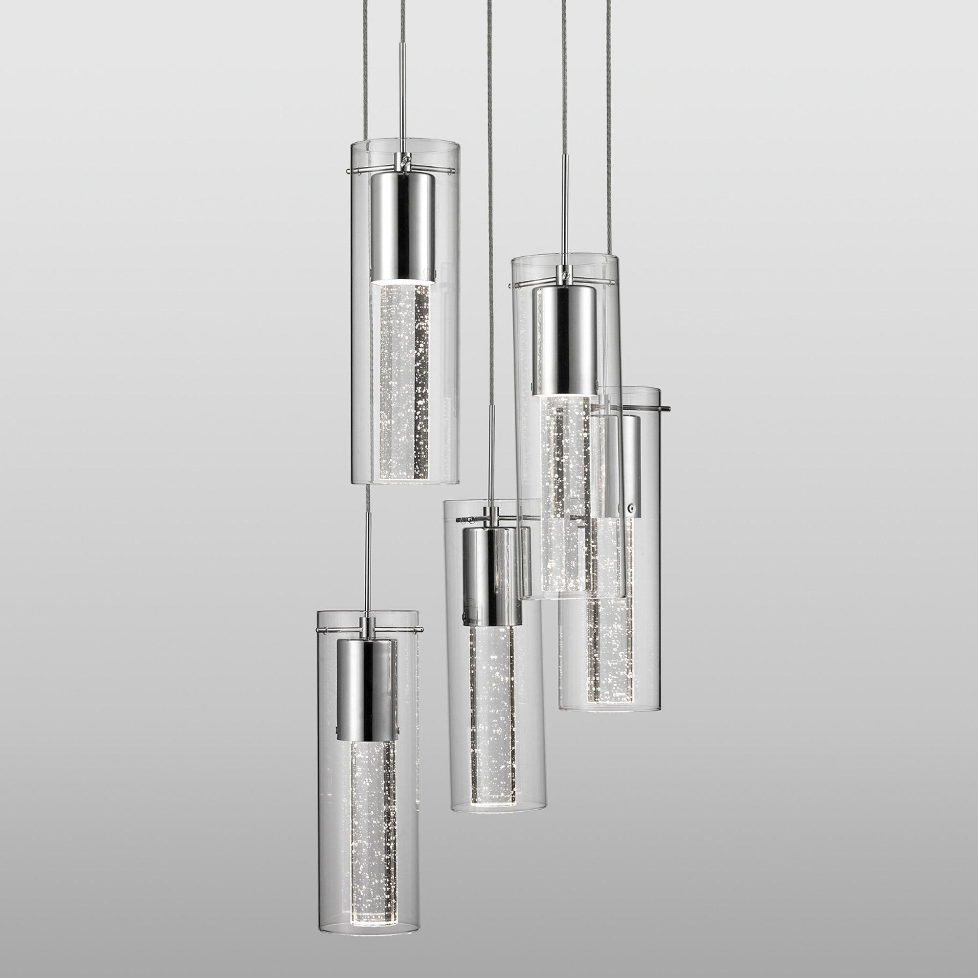 Orren Ellis 5 Light Cluster Cylinder Pendant Wayfair