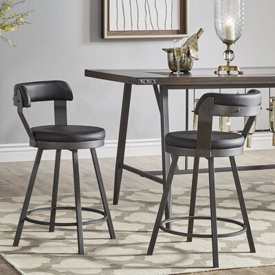 Counter 24 Quot 27 Quot Low Back Swivel Barstools You Ll Love In