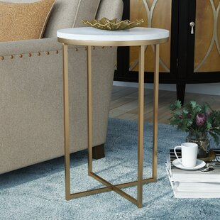 Andromeda Round End Table by Everly Quinn