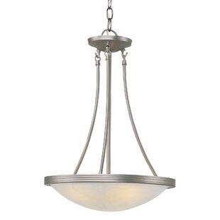 3-Light Bowl Pendant by TransGlobe Lighting