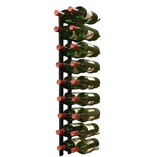 Epicureanist 18 Bottle Wall Mounted Wine Bottle Rack