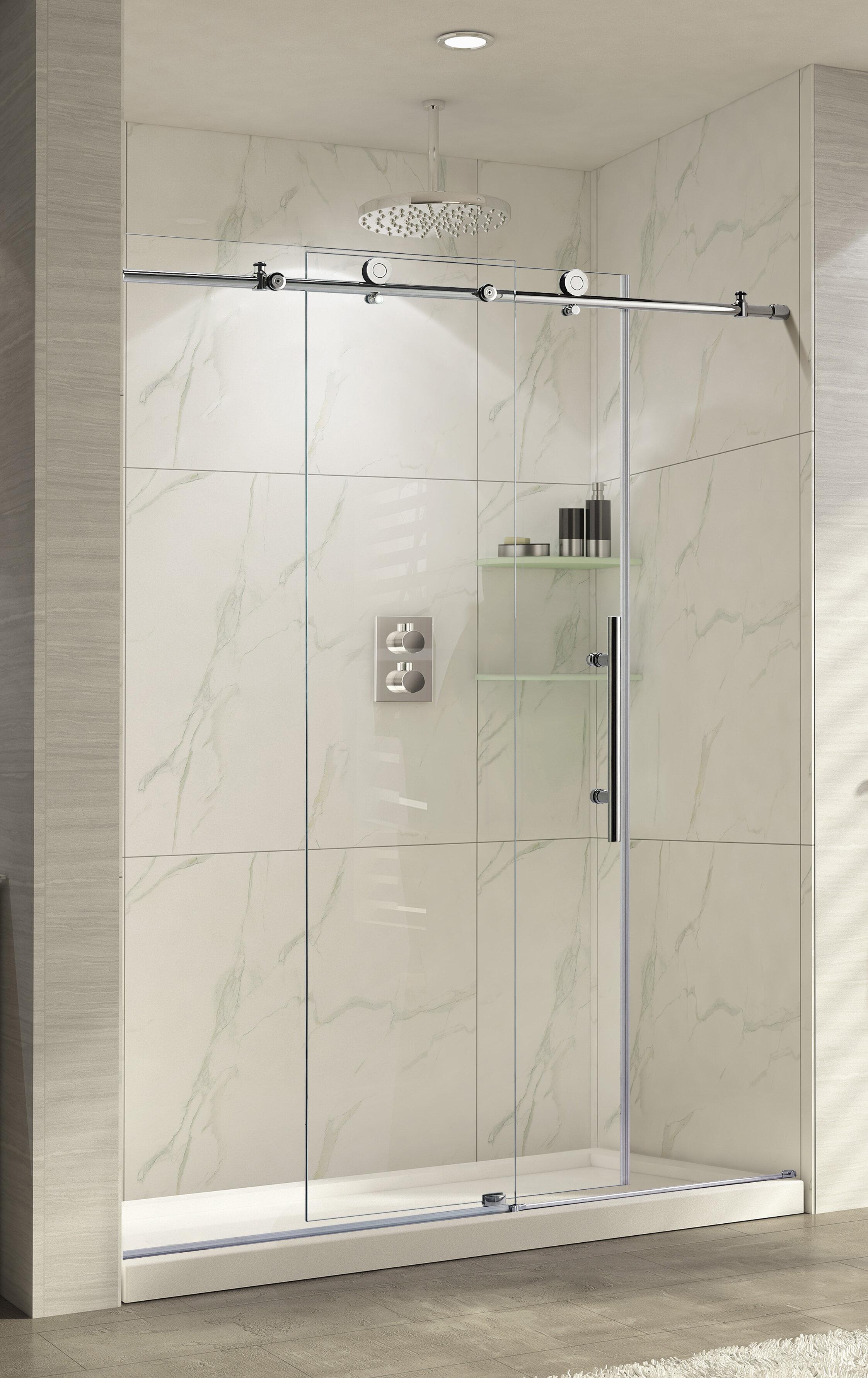 Wet Republic Trident Lux 60 X 76 Single Sliding Shower Door