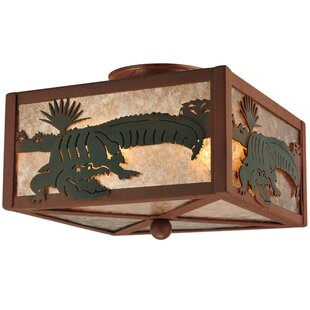 Meyda Tiffany Alligator 2-Light Flush Mount
