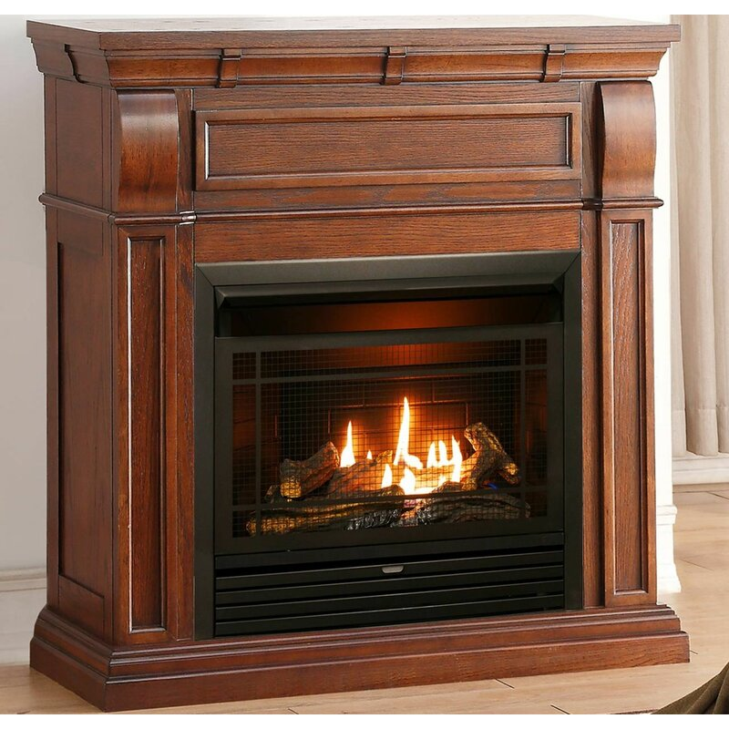 Duluth Forge Chestnut Vent Free Freestanding 42 H X 42 W Natural