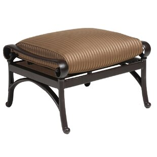 Borland Outdoor Ottoman with Sunbrella Cushions by Darby Home Co
