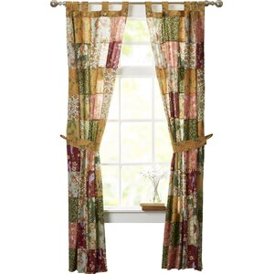 St. John Patchwork Sheer Tab Top Curtain Panels (Set of 2)