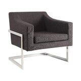 Zemrane Faux Linen Armchair by Orren Ellis