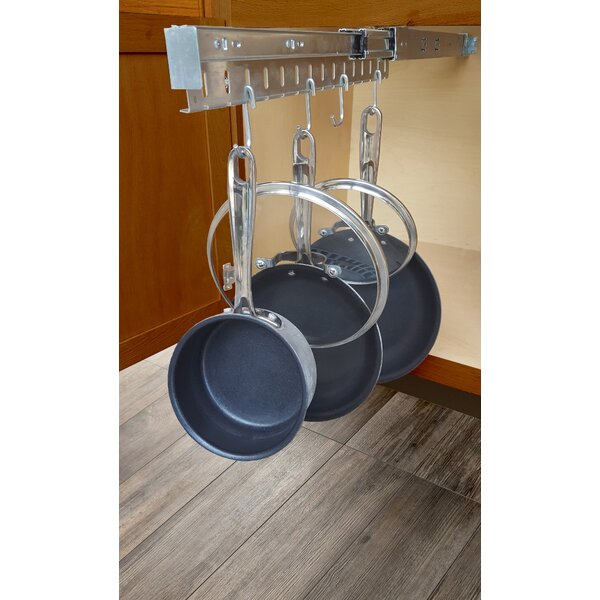 Rebrilliant Peyton Pull Out Pot Pan And Lid Cabinet Organizer Reviews Wayfair
