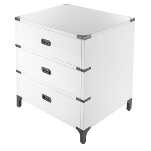 Ferro 3 Drawer Nightstand