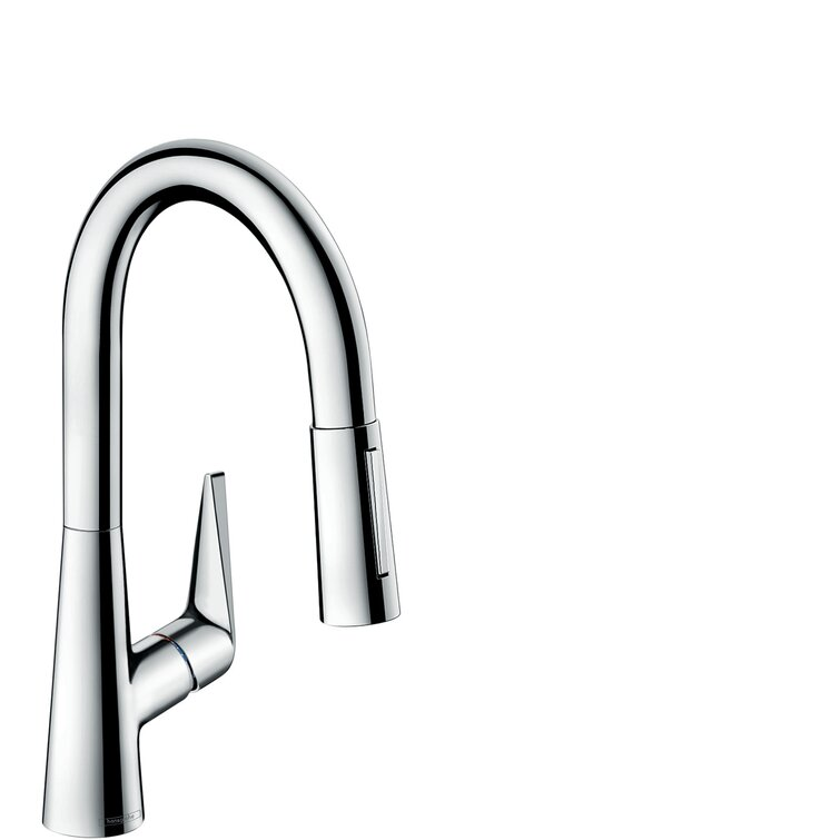 Hansgrohe Talis S Pull Down Single Handle Kitchen Faucet With Magnetic Docking Wayfair