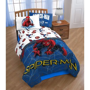 Shopkins Marvel Spiderman Wall Crawler Twin Polyester 3 Piece Sheet Set