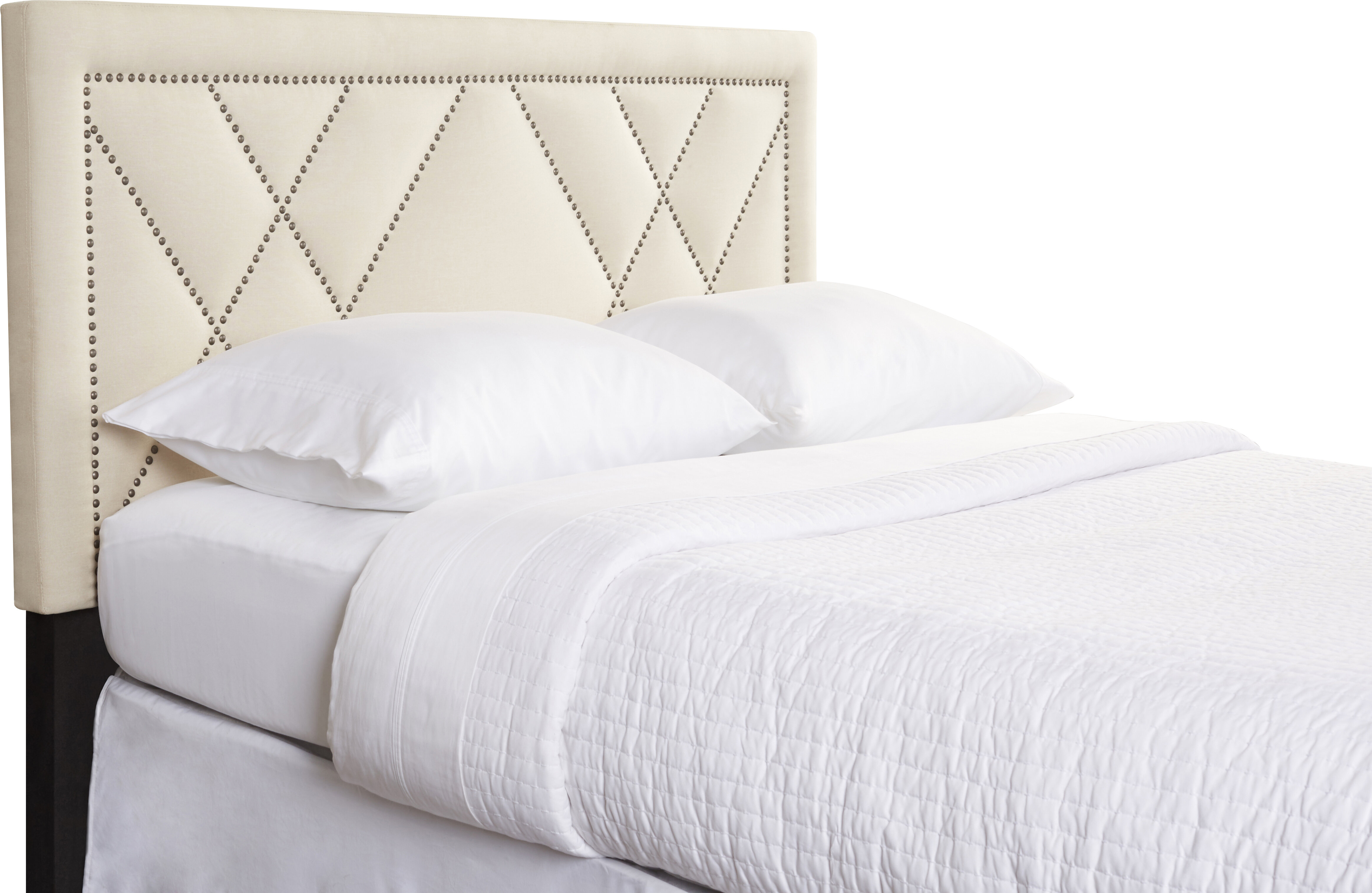 works a in style profile slim the spaces pin headboard your well with small slipcovered soften
