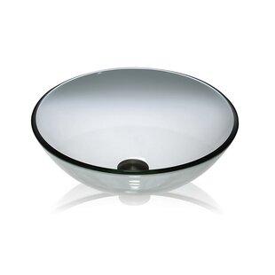 Comparison Glass Circular Vessel Bathroom Sink By Lenova
