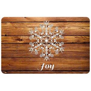 Snowflake Joy Kitchen Mat