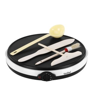 5 Piece Electric Crepe and Pancake Maker Set