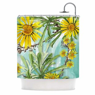 Sunny Day by Liz Perez Floral Single Shower Curtain