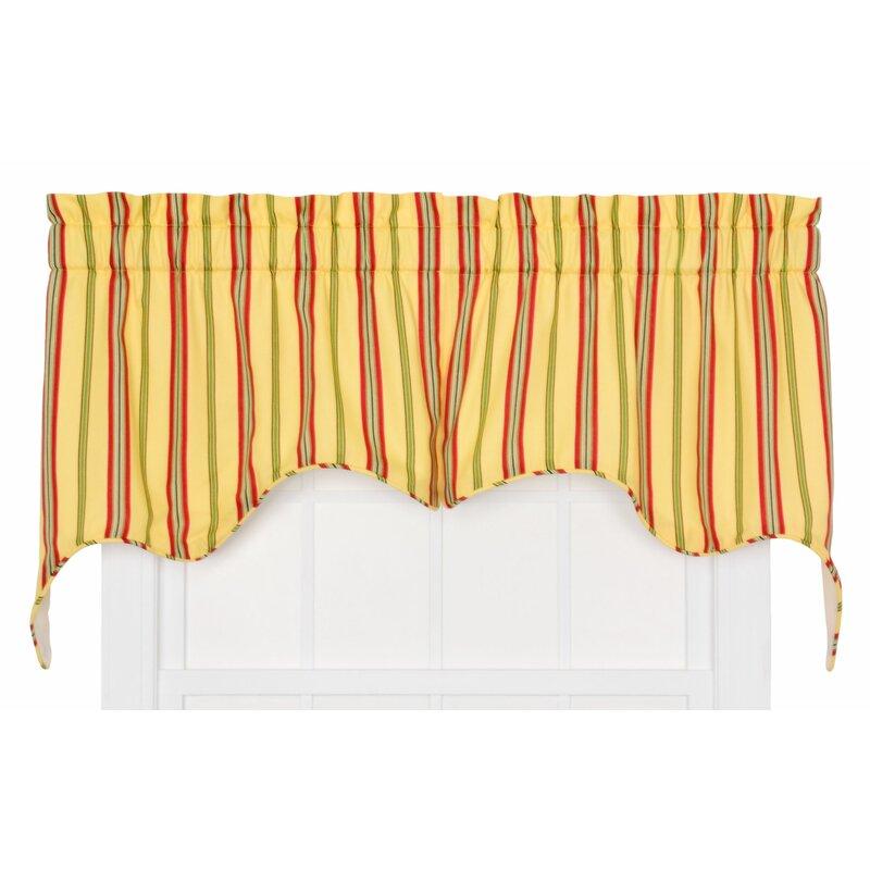 Red Barrel Studio Englewood Medium Scale Stripe Empress 2 Piece Lined Swag Curtain Valance Reviews Wayfair