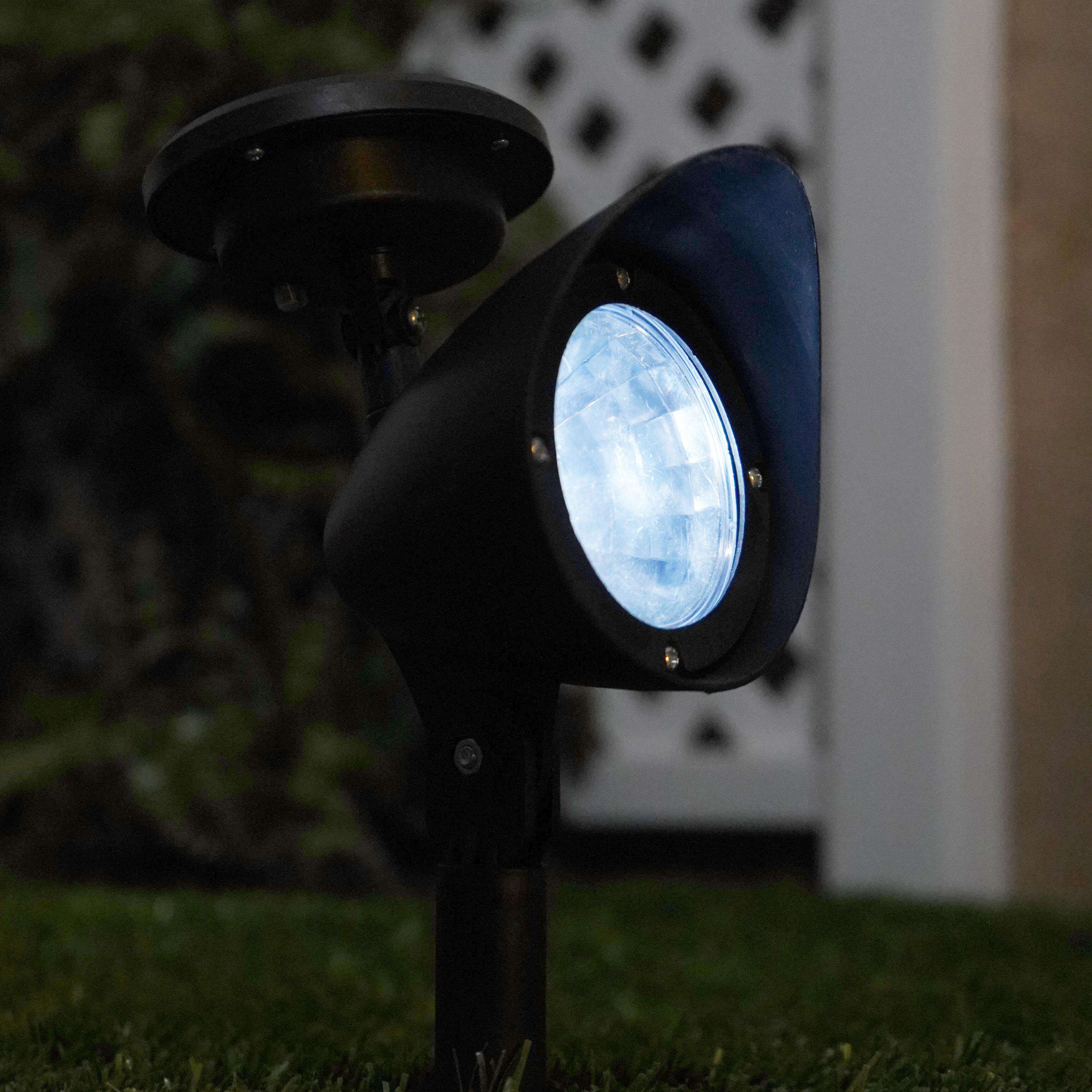 Crosslight Black Solar Powered Integrated Led Spot Light Pack Wayfair