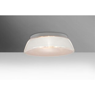Read Reviews Pica 1-Light Outdoor Flush Mount By Besa Lighting