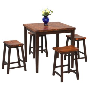 Weitzel 5 Piece Counter Height Dining Set