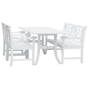 Mahler 4 Piece Patio Dining Set