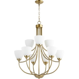 Quorum Enclave 9-Light Shaded Chandelier