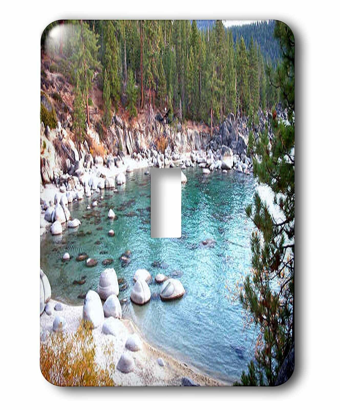 3drose Secret Beach By Lake Tahoe East Shore Single Toggle Light Switch Wayfair