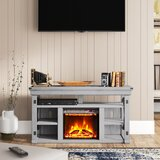 Gladstone TV Stand for TVs up to 60 with Fireplace Included by Laurel Foundry Modern Farmhouse