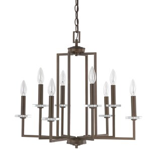 Reviews Malcolm 8-Light Chandelier By Latitude Run