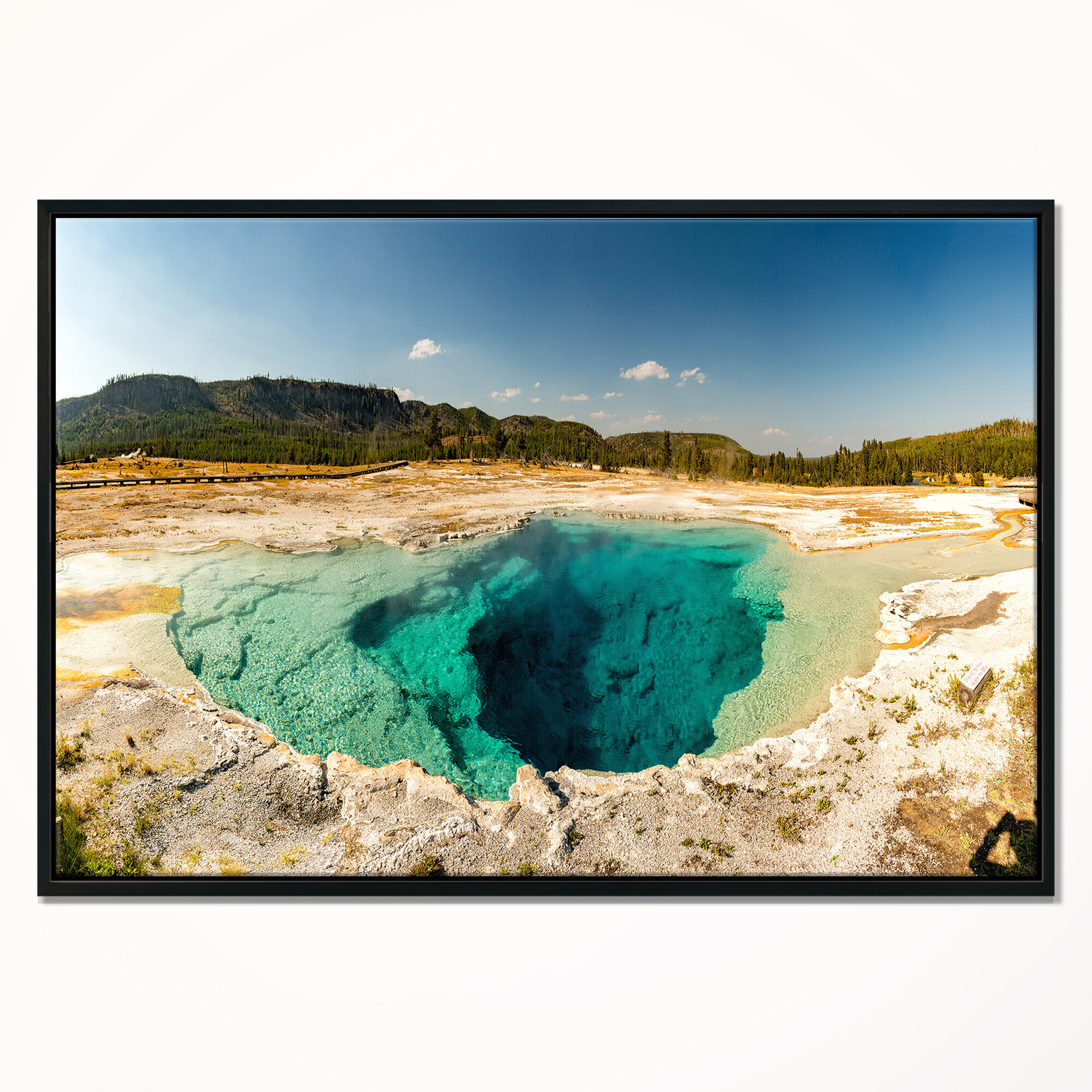 East Urban Home Yellow Stone Pool Panorama Framed Photographic Print On Wrapped Canvas Wayfair