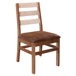 Strayer Solid Wood Dining Chair with Ladder Back (Set of 2) Millwood Pines