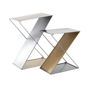 Bargain Feemster Modern Tin 2 Piece Z-Shaped Corner Plant Stand Set By Orren Ellis