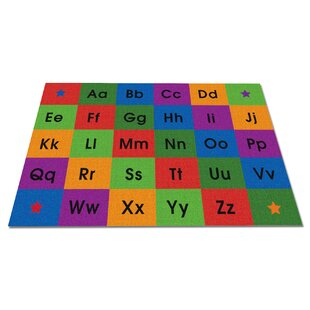 Row by Row Alphabet Kids Rug