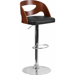 Crotty Low Back Adjustable Height Swivel Bar Stool George Oliver