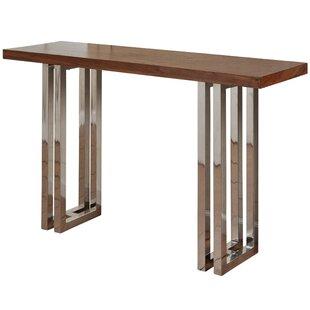 Masten Twin Leg Console Table by Union Rustic