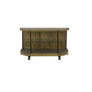 Sarreid Ltd Wall Console Table with Glass..